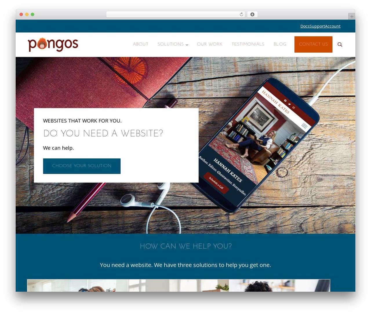 Genesis WordPress website template - pongos.com