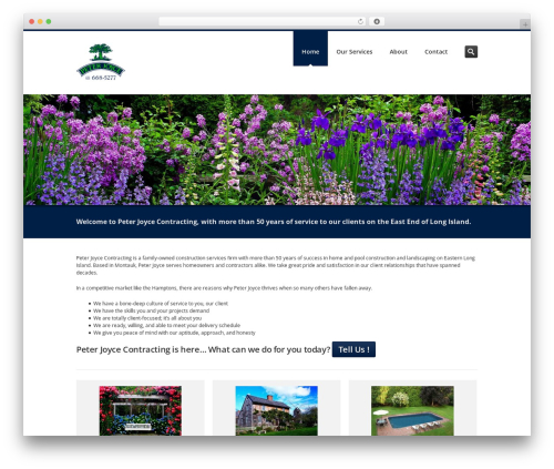 Inceptio WordPress theme design - peterjoycecontracting.com