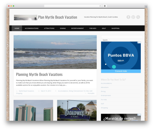 Free WordPress TablePress plugin - planmyrtlebeachvacation.com