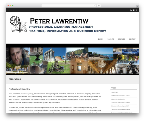 Theme WordPress Formation - peterlawrentiw.com