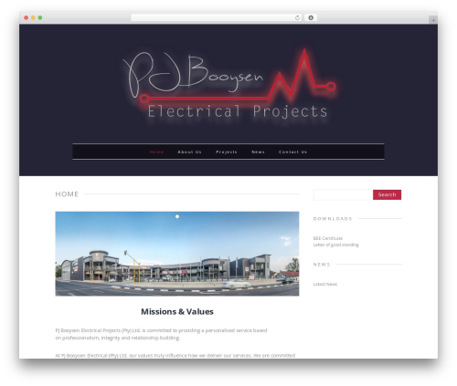Theme WordPress MH Elegance lite - pjbelectrical.co.za