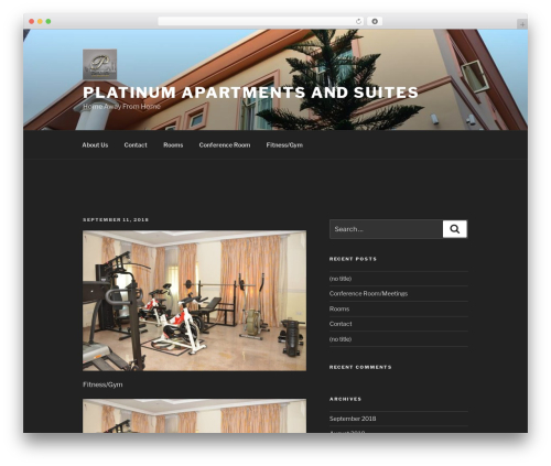 Twenty Seventeen free WordPress theme - platinumapartments-suites.com