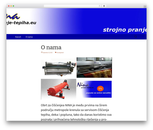 Twenty Thirteen free WP theme - pranje-tepiha.eu