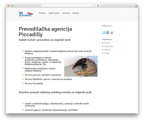 Whitelight best WordPress template - piccadilly.edu.rs