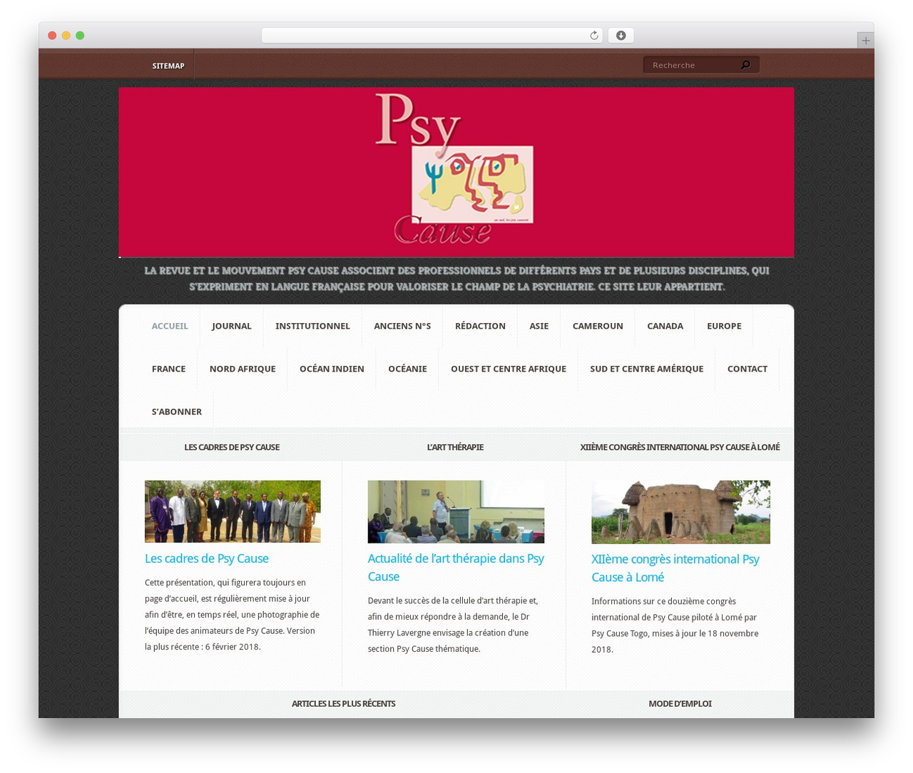 WordPress theme Aggregate - psycause.info