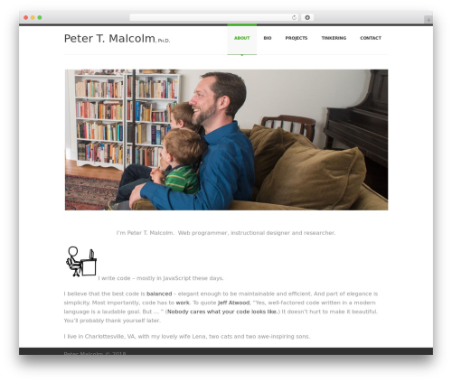 WordPress theme SmartStart WP - Responsive HTML5 Theme - petermalcolm.me