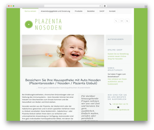 WordPress website template Falco - plazenta-nosoden.net