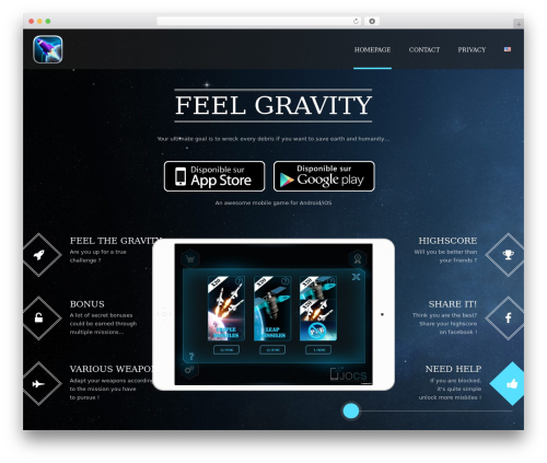 Applay WordPress gaming theme - feelgravity.com