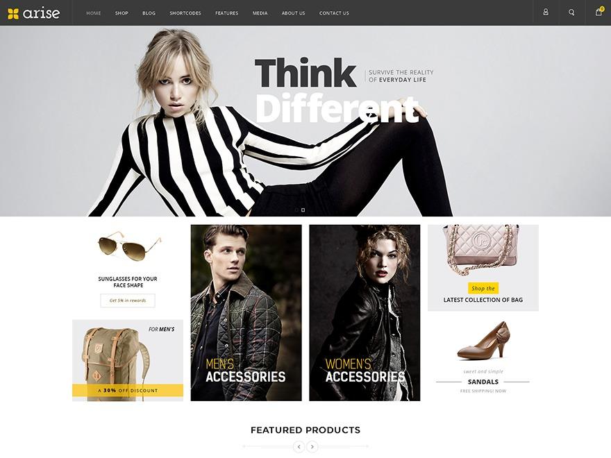 arisestore WordPress store theme
