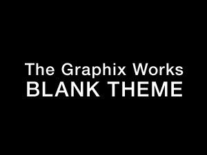 Blank WordPress theme