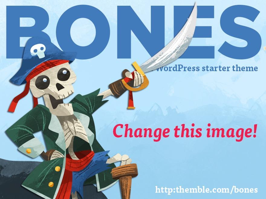 Bones (Rename Me!) WordPress theme design