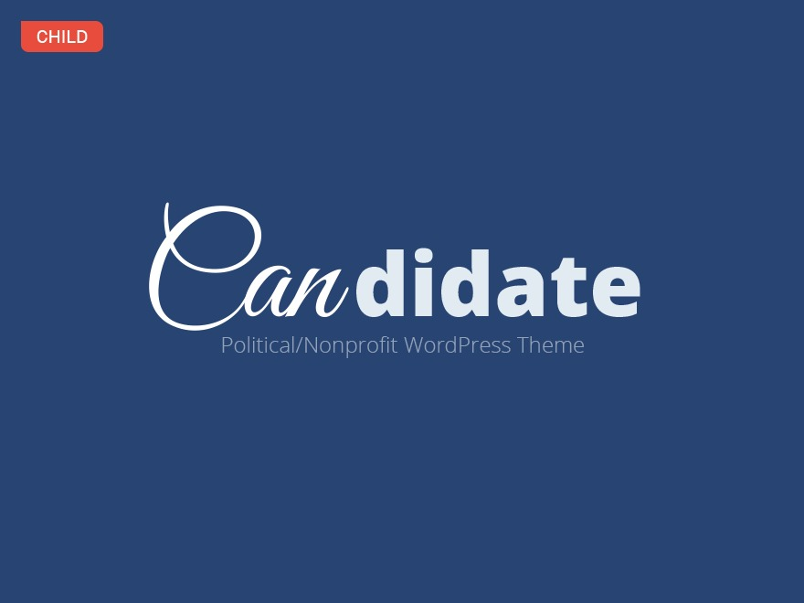 Candidate Child Theme template WordPress