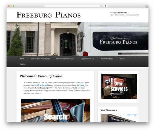 Catch Evolution template WordPress free - freeburgpianos.com