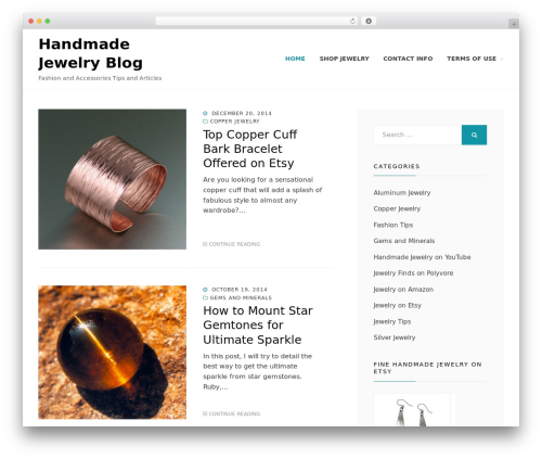 Cell WordPress blog theme - fine-handmade-jewelry.com