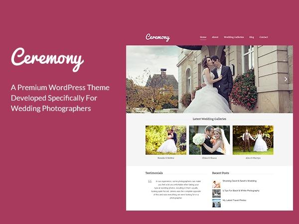 Ceremony Child Theme WordPress page template