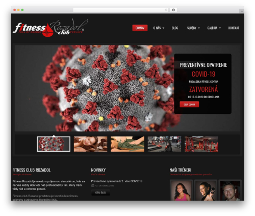 cherry gym WordPress theme - fitnessrozadol.sk