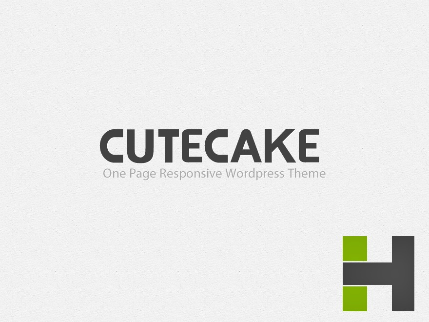 CuteCake WordPress theme design