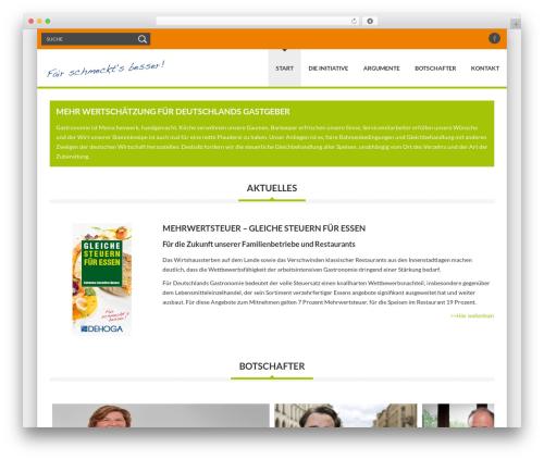 Delicate WordPress theme - fairschmecktsbesser.de