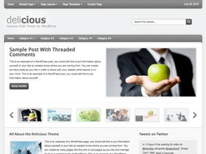 Delicious Brown Child Theme WordPress page template
