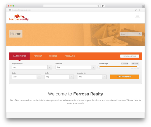Easy Living WP theme - ferrosarealty.com