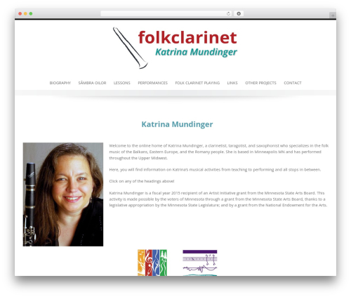 Emphasize free website theme - folkclarinet.com