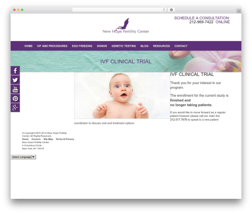 Fame WordPress theme - freeivfclinicaltrial.com