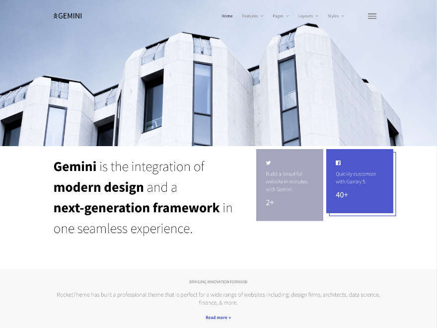Gemini best WordPress theme
