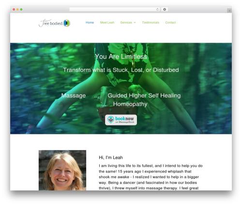 Gemini WordPress page template - freebodied.com