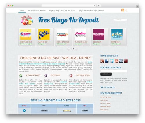 Grido WordPress theme - freebingonodeposit.net