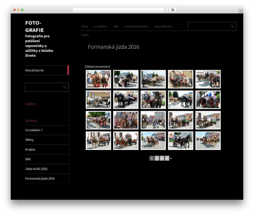 Metro CreativeX WordPress theme - foto-grafie.cz