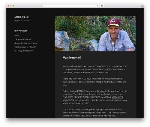 Mike-2015 premium WordPress theme - fahl.se