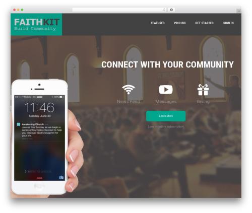 Moesia free WP theme - faithkit.com