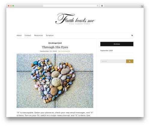 Olsen Light WordPress website template - faithleadsme.com
