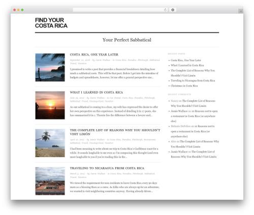 Origin free WP theme - findyourcostarica.com