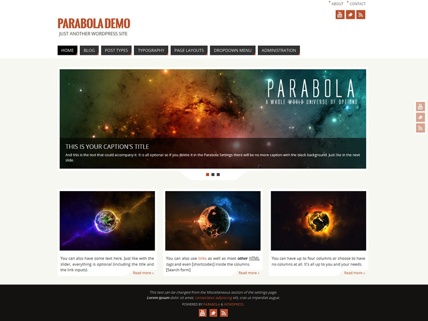 Parabola-child best WordPress template