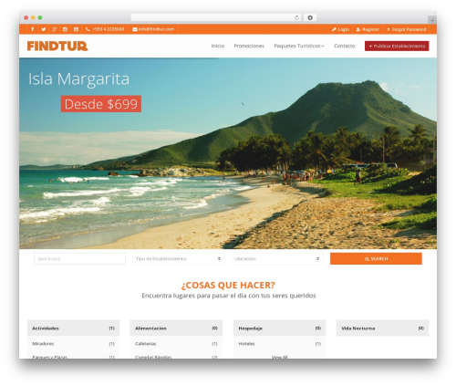 Pointfinder WordPress theme - findtur.com