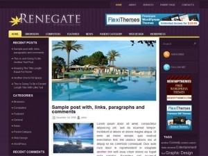 Renegate WordPress theme design