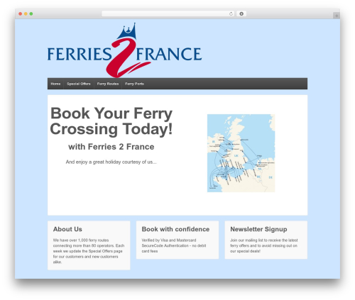 Responsive best WordPress template - ferries2france.com