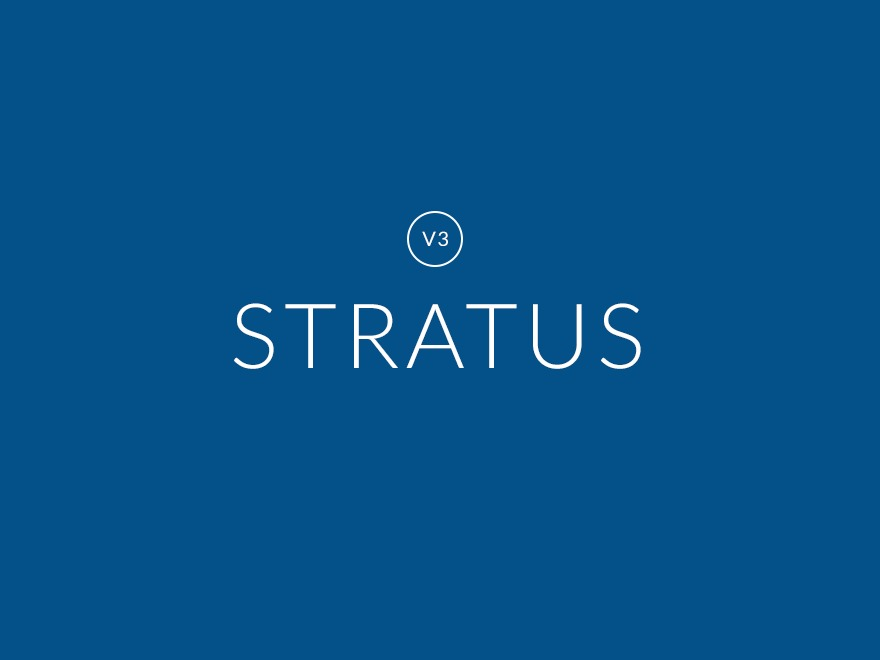 Stratus WordPress template