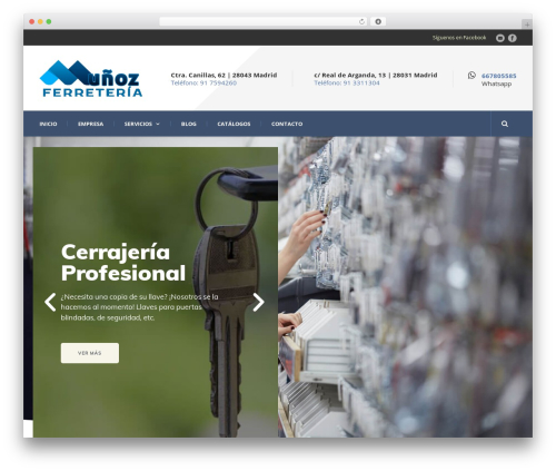 Template WordPress Mega Project - ferreteriamunoz.es