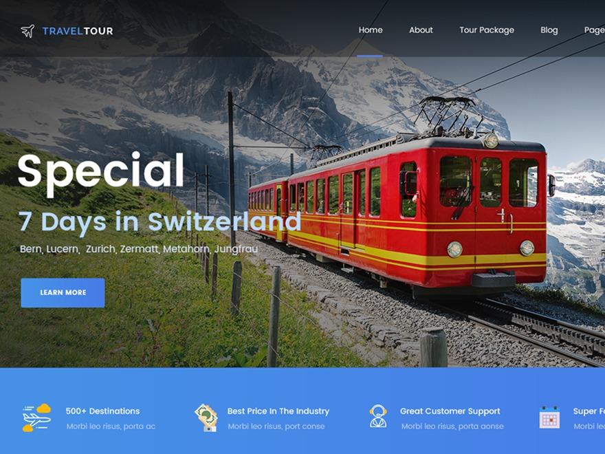 Travel Tour Child WordPress travel theme