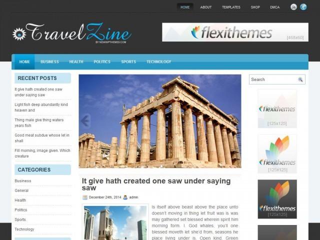 TravelZine WordPress travel theme