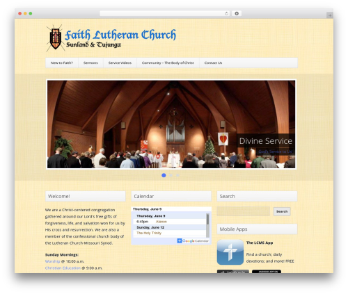 Trinity (Free Edition) WordPress template - faithlutherantujunga.org