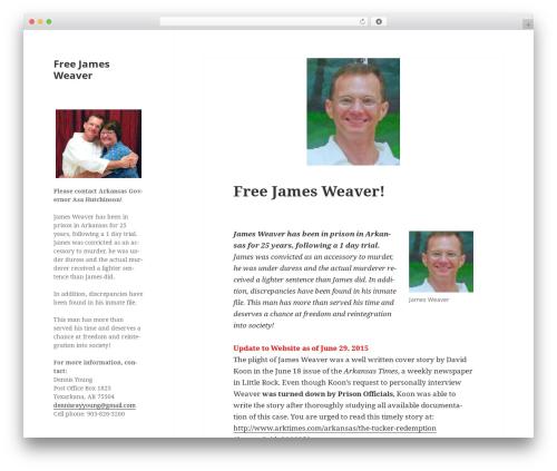 Twenty Fifteen template WordPress free - freejamesweaver.com