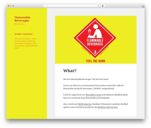 Twenty Fifteen template WordPress - flammablebeverages.com