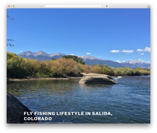 Twenty Seventeen best WordPress video theme - flyfishsalida.com