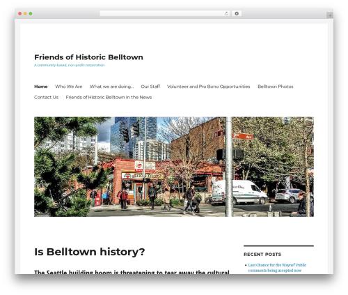 Twenty Sixteen WordPress theme - friendsofhistoricbelltown.org/wp