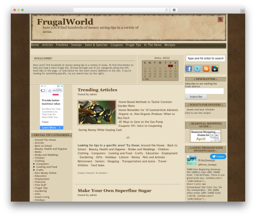 Free WordPress WP Mobile Edition plugin - frugalworld.com