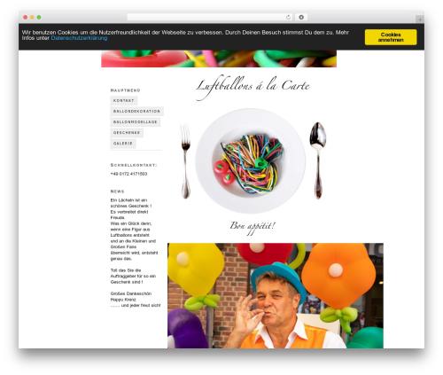 WordPress template Thesis - freut-sich.de