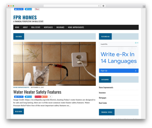 WordPress theme FPR Homes - fprhomes.com
